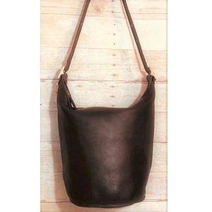 Coach Vintage XL Brown Bucket Duffle Handbag 9085